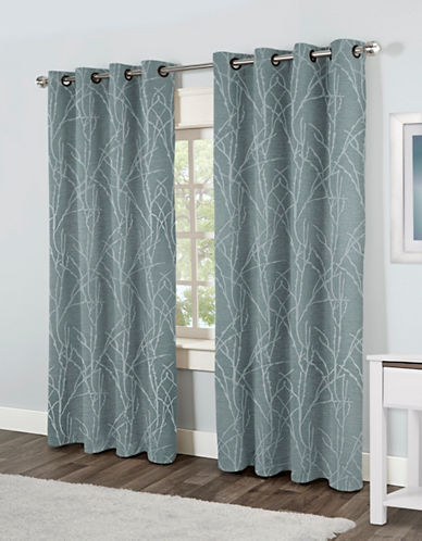 Home Outfitters Finesse Two-Pack Window Curtains-BLUE-One Size