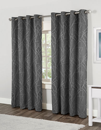 Home Outfitters Finesse Two-Pack Window Curtains-GREY-One Size