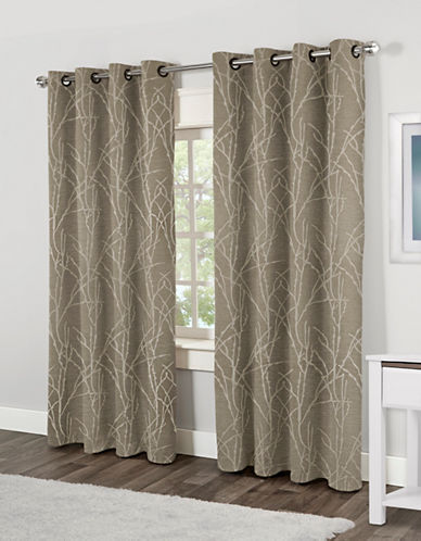 Home Outfitters Finesse Two-Pack Window Curtains-NATURAL-One Size