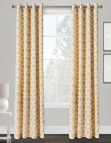 Home Outfitters Neptune Two-Pack Window Curtains-BEIGE-84 inches