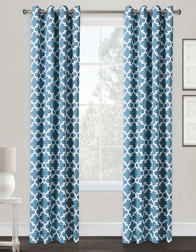 Home Outfitters Neptune Two-Pack Window Curtains-TEAL-84 inches