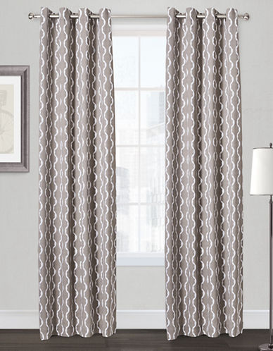 Home Outfitters Trellis Two-Pack Window Curtains-TAUPE-84 inches