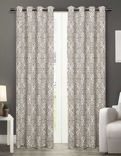 Home Outfitters Sira Two-Pack Window Curtains-OFF WHITE-84 inches