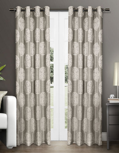Home Outfitters Akola Two-Pack Window Curtains-NATURAL-96 inches