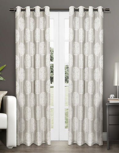 Home Outfitters Akola Two-Pack Window Curtains-GREY-84 inches