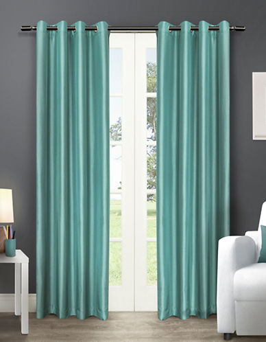Home Outfitters Chatra Two-Pack Window Curtains-TEAL-96 inches
