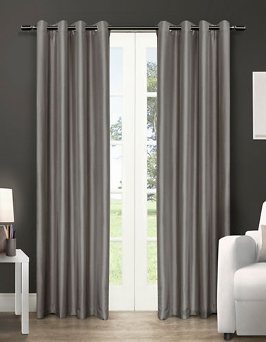 Home Outfitters Chatra Two-Pack Window Curtains-SILVER-96 inches