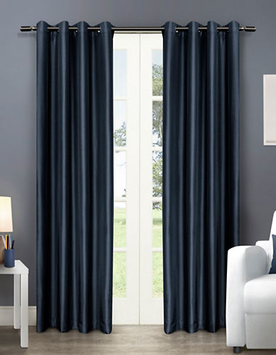 Home Outfitters Chatra Two-Pack Window Curtains-INDIGO-96 inches