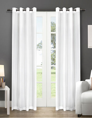 Home Outfitters Chatra Two-Pack Window Curtains-WHITE-108 inches