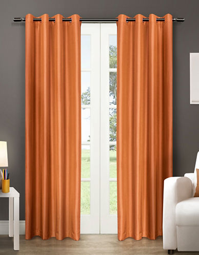 Home Outfitters Chatra Two-Pack Window Curtains-ORANGE-96 inches