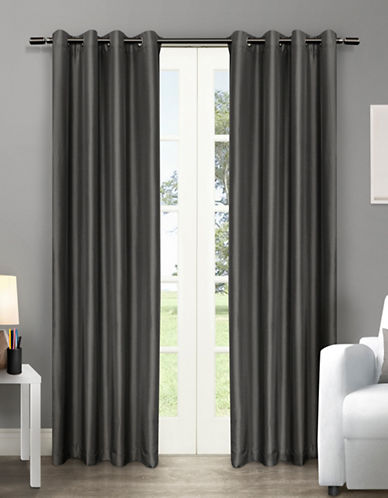 Home Outfitters Chatra Two-Pack Window Curtains-BLACK-108 inches
