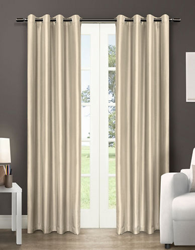 Home Outfitters Chatra Two-Pack Window Curtains-BONE-96 inches