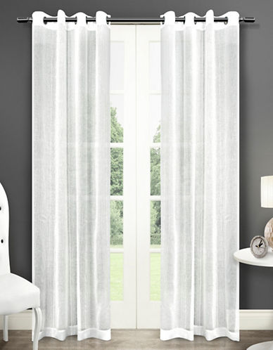 Home Outfitters Sabrina Two-Pack Window Curtains-WHITE-One Size