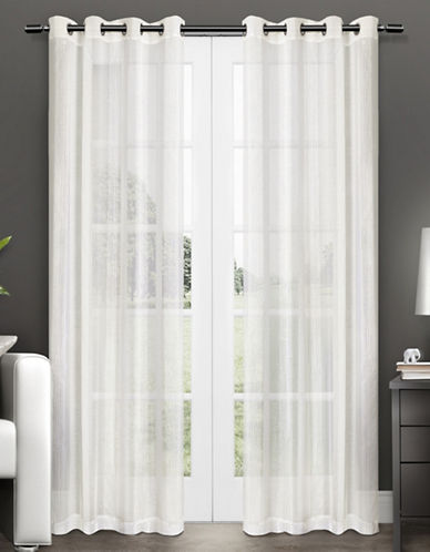 Home Outfitters Penny Two-Pack Window Curtains-OFF-WHITE-One Size