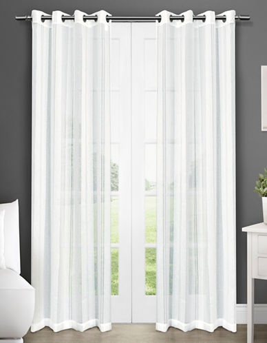Home Outfitters Apollo Two-Pack Window Curtains-WHITE-One Size