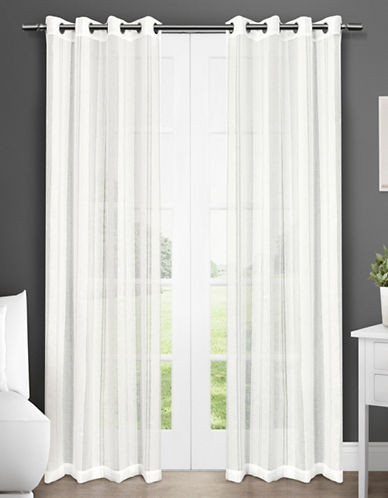 Home Outfitters Apollo Two-Pack Window Curtains-OFF-WHITE-One Size