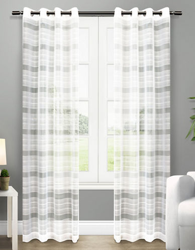 Home Outfitters Michel Two-Pack Window Curtains-WHITE-One Size