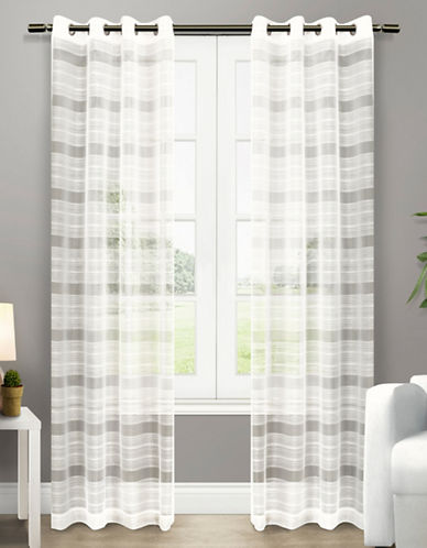 Home Outfitters Michel Two-Pack Window Curtains-OFF-WHITE-One Size