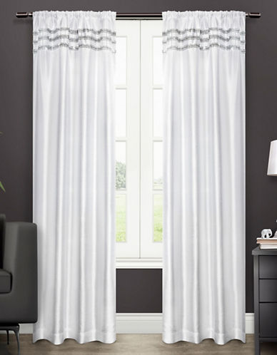 Home Outfitters Bling Two-Pack Window Curtains-WHITE-One Size