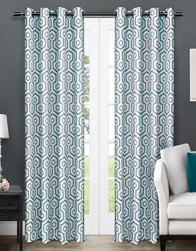 Home Outfitters Trike Two-Pack Window Curtains-TEAL-One Size