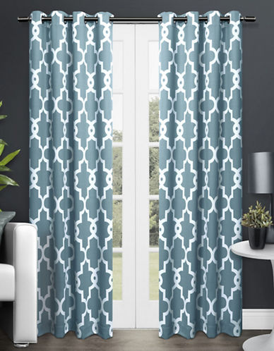 Home Outfitters Ironwork Two-Pack Window Curtains-TEAL-One Size