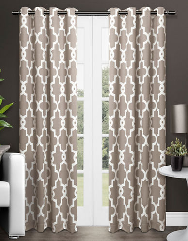 Home Outfitters Ironwork Two-Pack Window Curtains-TAUPE-One Size