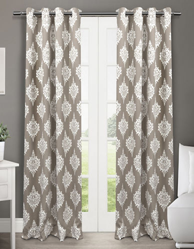 Home Outfitters Medallion Two-Pack Window Curtains-TAUPE-One Size