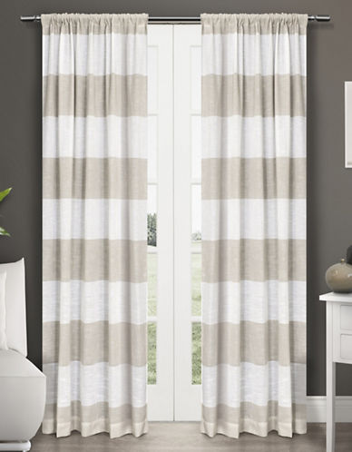 Home Outfitters Darma Two-Pack Window Curtains-BEIGE-84 inches