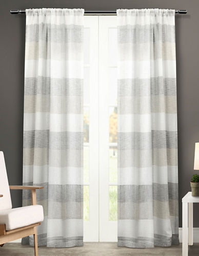 Home Outfitters Bern Two-Pack Window Curtains-GREY-One Size