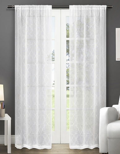 Home Outfitters Cali Two-Pack Window Curtains-WHITE-One Size