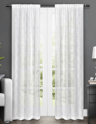 Home Outfitters Salzberg Two-Pack Window Curtains-WHITE-One Size