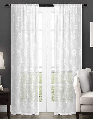 Home Outfitters Seville Two-Pack Window Curtains-WHITE-One Size