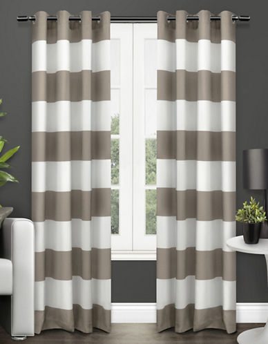 Home Outfitters Surfside Two-Pack Window Curtains-TAUPE-84 inches