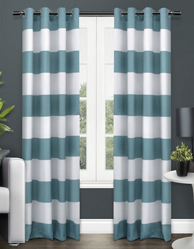 Home Outfitters Surfside Two-Pack Window Curtains-TEAL-84 inches