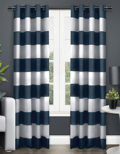 Home Outfitters Surfside Two-Pack Window Curtains-INDIGO-One Size