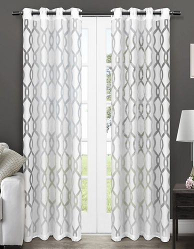 Home Outfitters Rio Two-Pack Window Curtains-WHITE-One Size