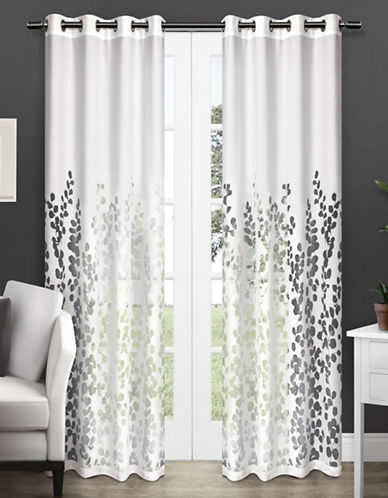 Home Outfitters Wilshire Two-Pack Window Curtains-WHITE-One Size