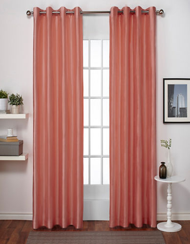 Home Outfitters Chatra Two-Pack Window Curtains-CORAL-96 inches