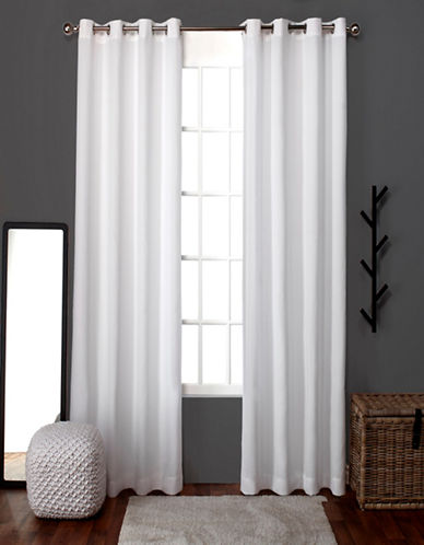 Home Outfitters Loha Two-Pack Window Curtains-WHITE-One Size