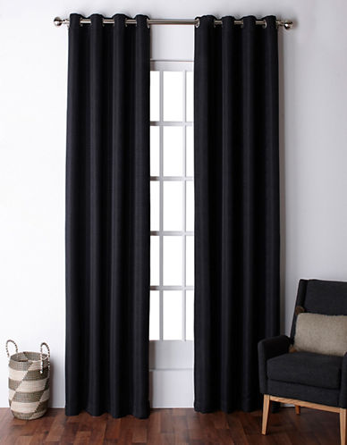 Home Outfitters Virenze Two-Pack Window Curtains-MIDNIGHT-One Size