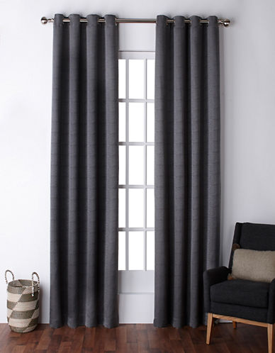 Home Outfitters Virenze Two-Pack Window Curtains-BLACK PEARL-One Size