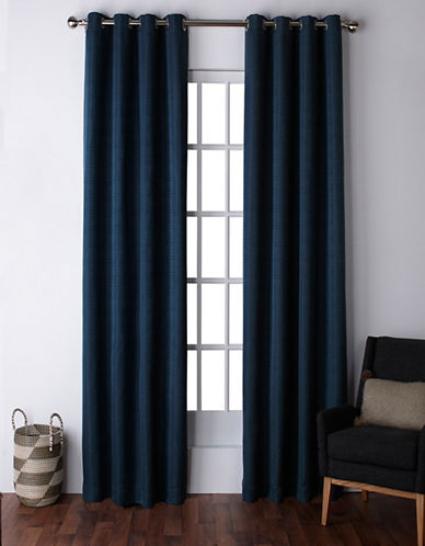 Home Outfitters Virenze Two-Pack Window Curtains-BLUE-One Size