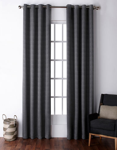 Home Outfitters Virenze Two-Pack Window Curtains-SILVER-One Size