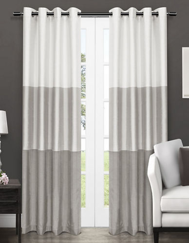 Home Outfitters Chateau Two-Pack Window Curtains-GREY-96 inches