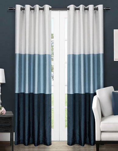Home Outfitters Chateau Two-Pack Window Curtains-INDIGO-84 inches