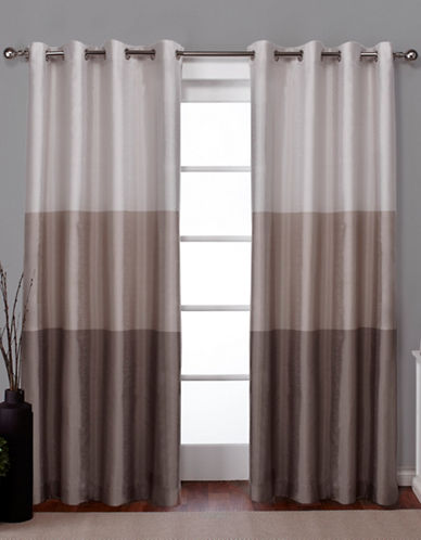 Home Outfitters Chateau Two-Pack Window Curtains-TAUPE-96 inches