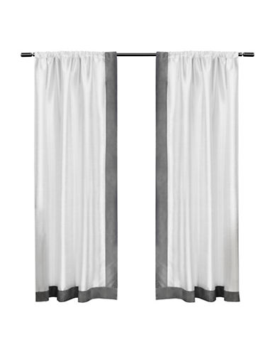 Home Outfitters Grammercy Small Window Curtain-BLACK PEARL-84 inches