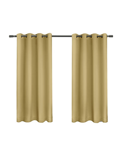 Home Outfitters Set of Two Twill Weave Curtain Panels-SUNDRESS-96 inches