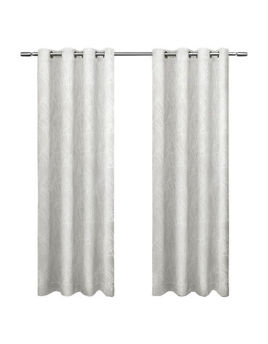 Home Outfitters Set of Two Twig Curtain Panels-VANILLA-108 inches