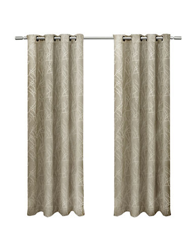 Home Outfitters Set of Two Twig Curtain Panels-TAUPE-96 inches